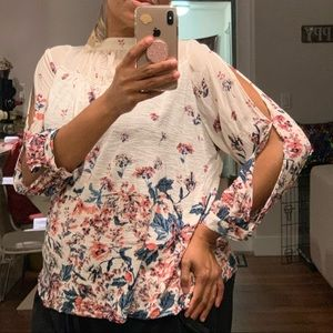 Lucky Brand | Floral Blouse | 1X